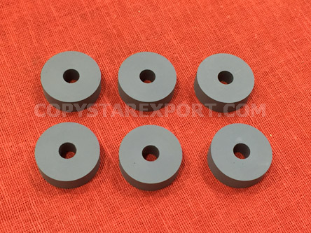 ROLLER, DELIVERY, OUTER RUBBER (SET OF 6 PCS)